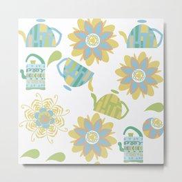 Tea pattern 3f Metal Print