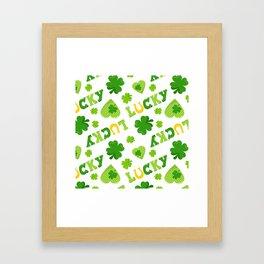 St. Patrick's Day EXTRA IRISH LUCK! Framed Art Print