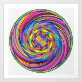Spun Colours Art Print