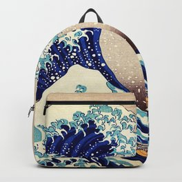 Katsushika Hokusai The Great Wave Off Kanagawa Backpack