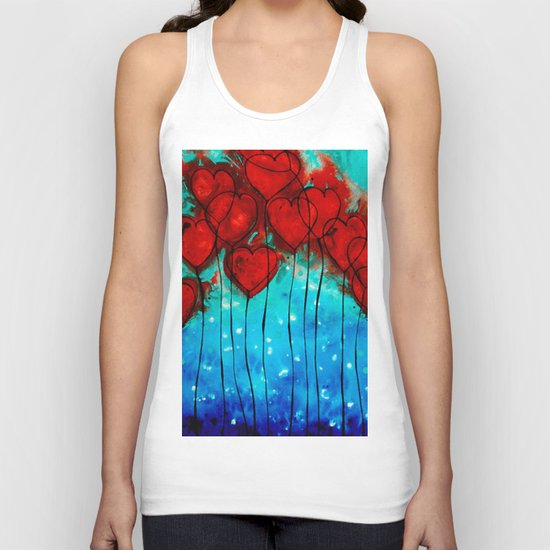 Hearts On Fire - Romantic Art By Sharon Cummings Unisex Tank Top