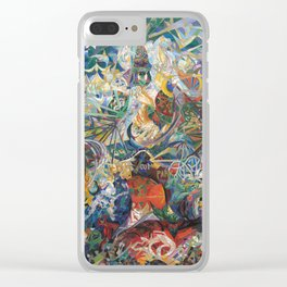 Battle of Lights, Coney Island, Mardi Gras by Joseph Stella Clear iPhone Case