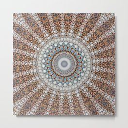 New Color Pyramidal Mandala 43 Metal Print