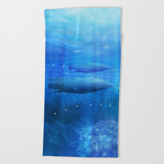 Save The Whales by Viviana Gonzalez Beach Towel
