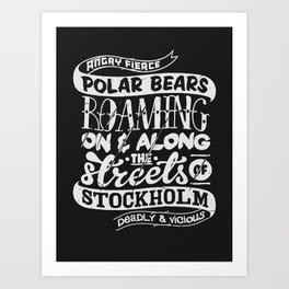 Facts About Sweden N°1 Art Print