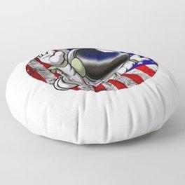 Astronaut Circle Flag Space Science Geek Floor Pillow