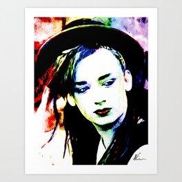 Boy George - Karma Chameleon - Pop Art Art Print