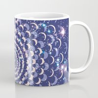 moon phases Mugs featuring Moon Phases by Cina Catteau