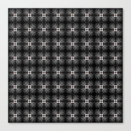 Spider Pipes in Black, Red, and White Canvas Print