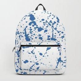 Splat Blue on White Backpack