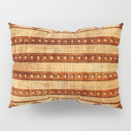 Embossed African Pattern Pillow Sham
