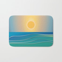 The sun comes and goes but the waves remain Bath Mat