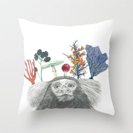 Spider Monkey Painting Throw Pillow