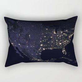 United States at Night Rectangular Pillow