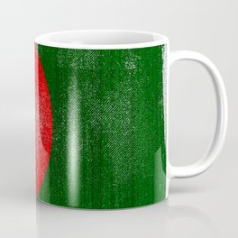 Bangladesh Distressed Halftone Denim Flag Coffee Mug