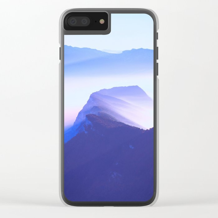 French mountains Clear iPhone Case