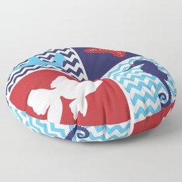 Nautical medley Floor Pillow