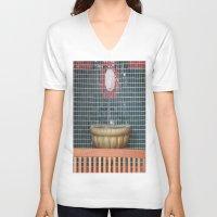 health V-neck T-shirts featuring HEALTH by Manuel Estrela 113 Art Miami