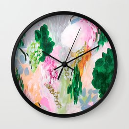 light path: abstract landscape Wall Clock