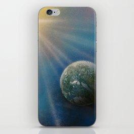 Sun Cross Earth Space Spray Paint iPhone Skin