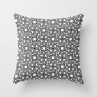 hokusai Throw Pillows featuring Hokusai by Mauricio Cosío