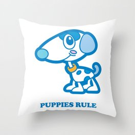 Puppies Rule Throw Pillow