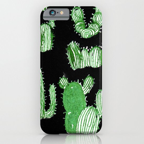 Cactus Beard Dude iPhone & iPod Case