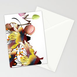 Hummingbird watercolor canvas print part3 Stationery Cards