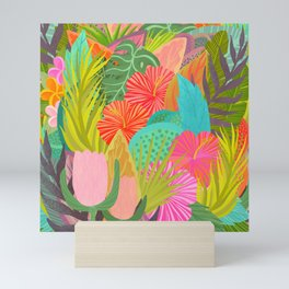 Saturated Tropical Plants and Flowers Mini Art Print