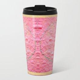 Smile on a pink toilet paper Travel Mug