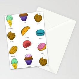 Snack Pattern Stationery Cards
