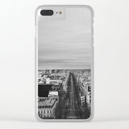 Black and White Paris Clear iPhone Case