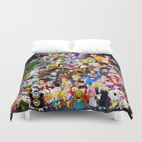 dragonball z Duvet Covers featuring DragonBall Z - Insane amount of Characters by Mr. Stonebanks