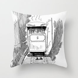 Funicular in Santiago Throw Pillow