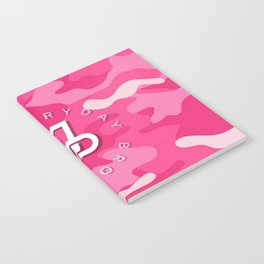Jake Paul Pink Camo Notebook