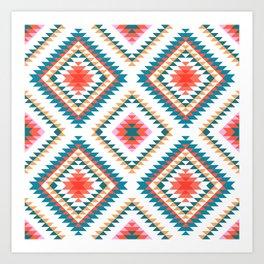Aztec Rug 2 Art Print