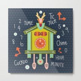 Tic Tock Cuckoo Clock Metal Print