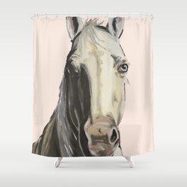 Horse Art, Farm Animal Art Shower Curtain