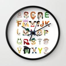 Oz-abet (an Oz Alphabet) Wall Clock