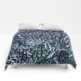 Tropical Jungle Leaves Mosaic #decor #buyartprints #society6 #botanical Comforters