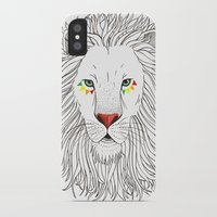 oana befort iPhone & iPod Cases featuring LION by Oana Befort