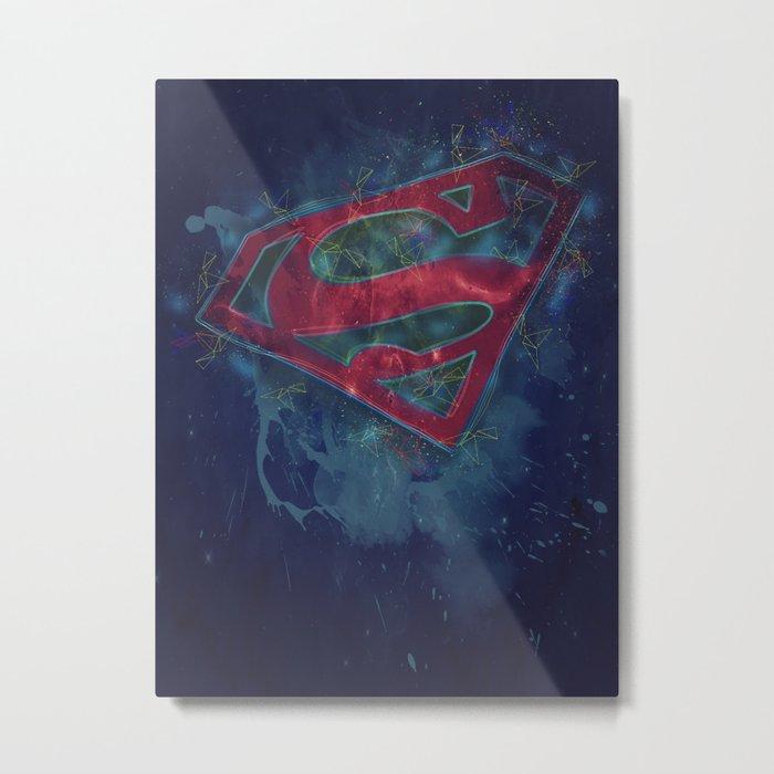 Superman Splat Test Metal Print