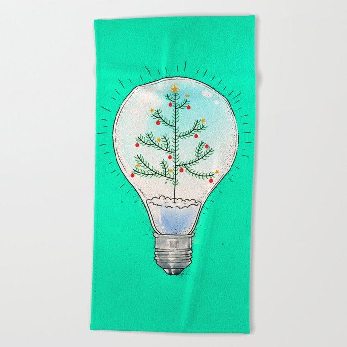 Christmas lamp Beach Towel