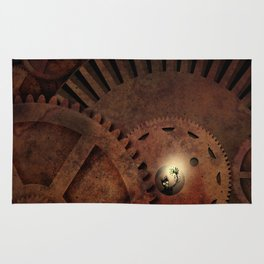 The Man in the Machine - A Steampunk Fantasy Rug
