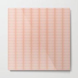 Salmon Ellipse Pattern Metal Print