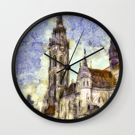 The Church Vincent Van Gogh Wall Clock