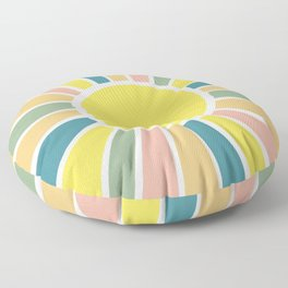 Retro Sunshine Floor Pillow