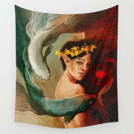 Pisces zodiac tarot card merrill dragon age Wall Tapestry