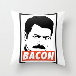 Swanson bacon Throw Pillow
