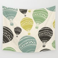 balloons Wall Tapestries featuring Balloons by spinL
